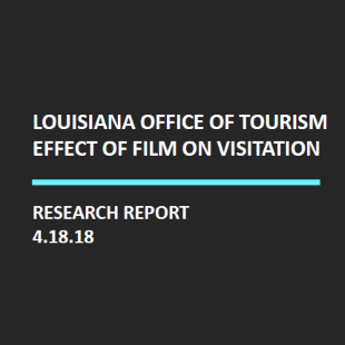 Louisiana Office of Tourism Effect of Film on Visitation Research Report Logo