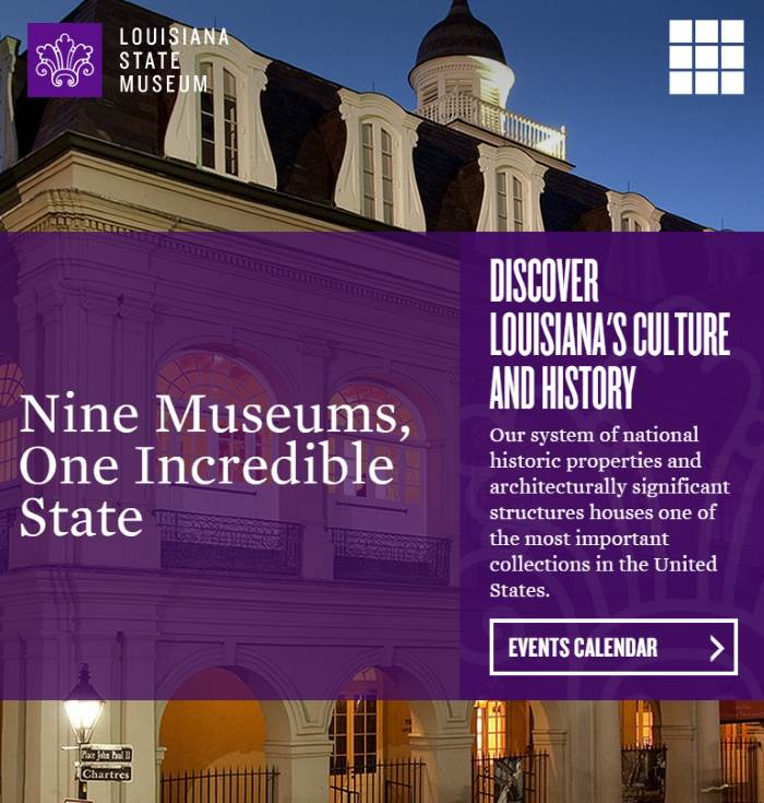 Louisiana State Museum New Website