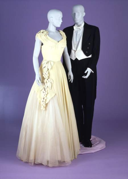 Debutante dress and tailcoat with trousers