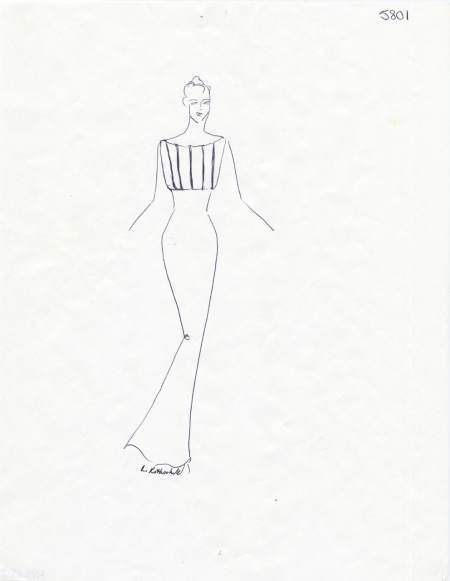 Sketch For Evening Gown