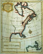 copy of a Map of North America Insofar as It Pertains to the English Possessions