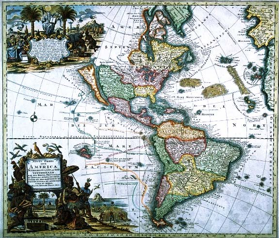 The map as art and craft copy of a map of south and north america 1730 gumiabroncs Gallery