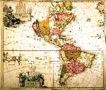 copy of a map of North and South America, 1690