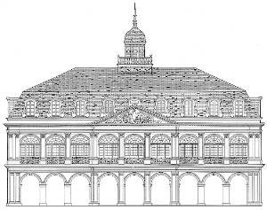 Sketch of the exterior of the Cabildo