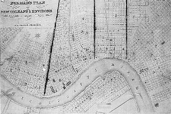 Map Of New Orleans By B M Norman 1849