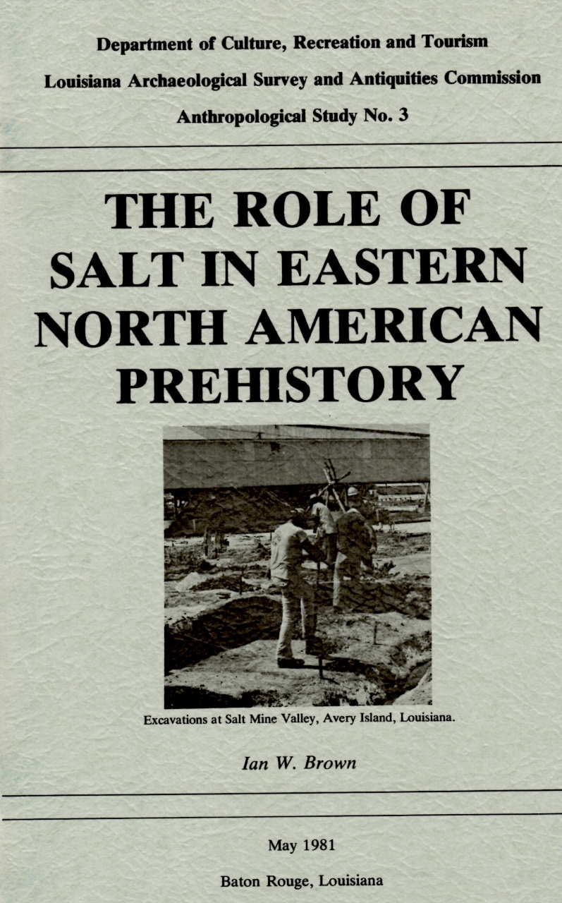 Role of Salt in Eastern North American Prehistory Book Cover