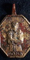 Religious pendants from Spanish colonial Los Adaes State Historic Site in Natchitoches Parish.