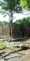 Historic sugarmill after excavation.