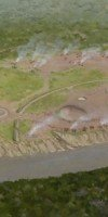 Overview of 2000-year-old Marksville Site in Avoyelles Parish. Painting by Martin Pate.