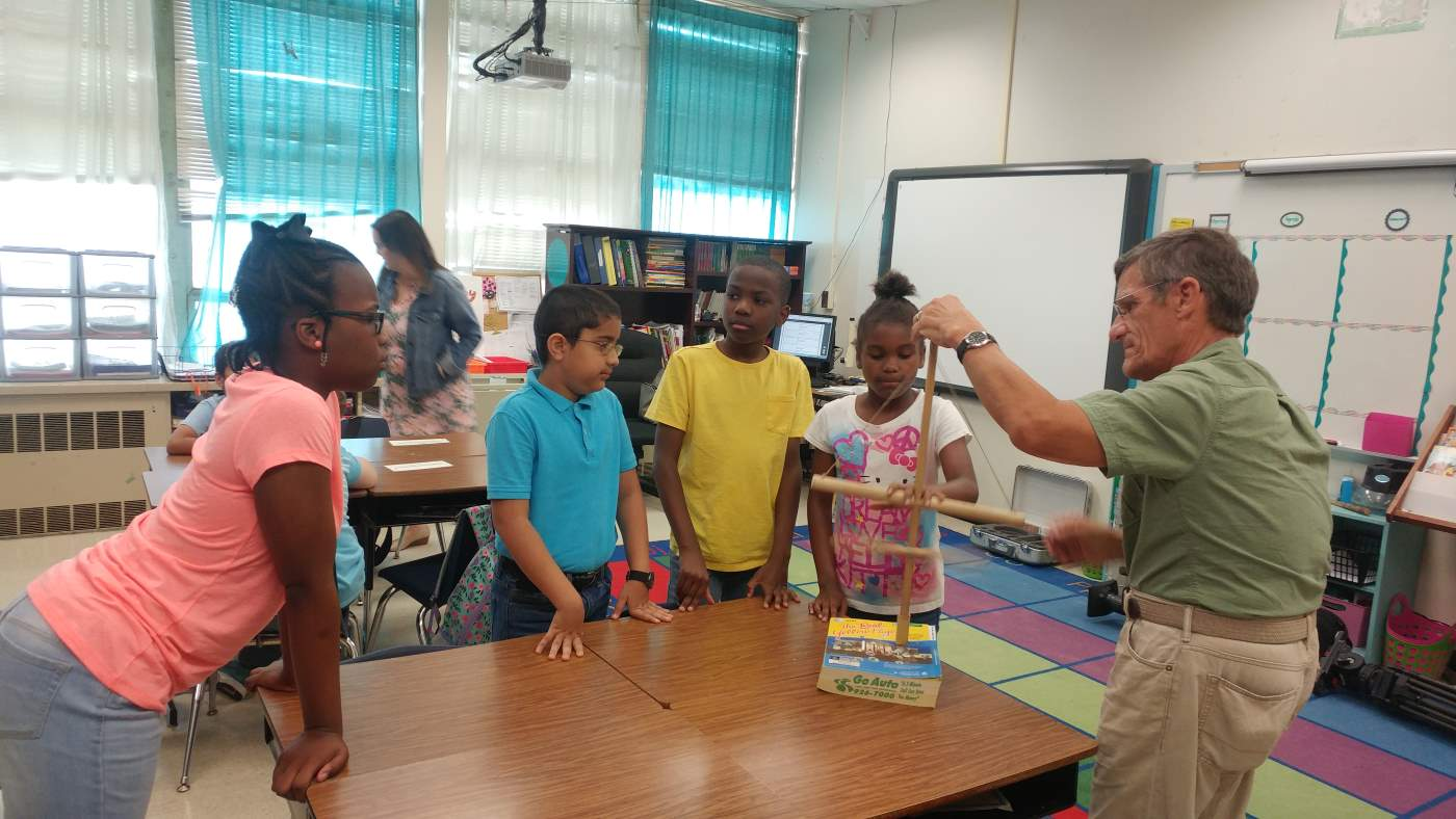 Buchannan Elementary School learning about Archaeology