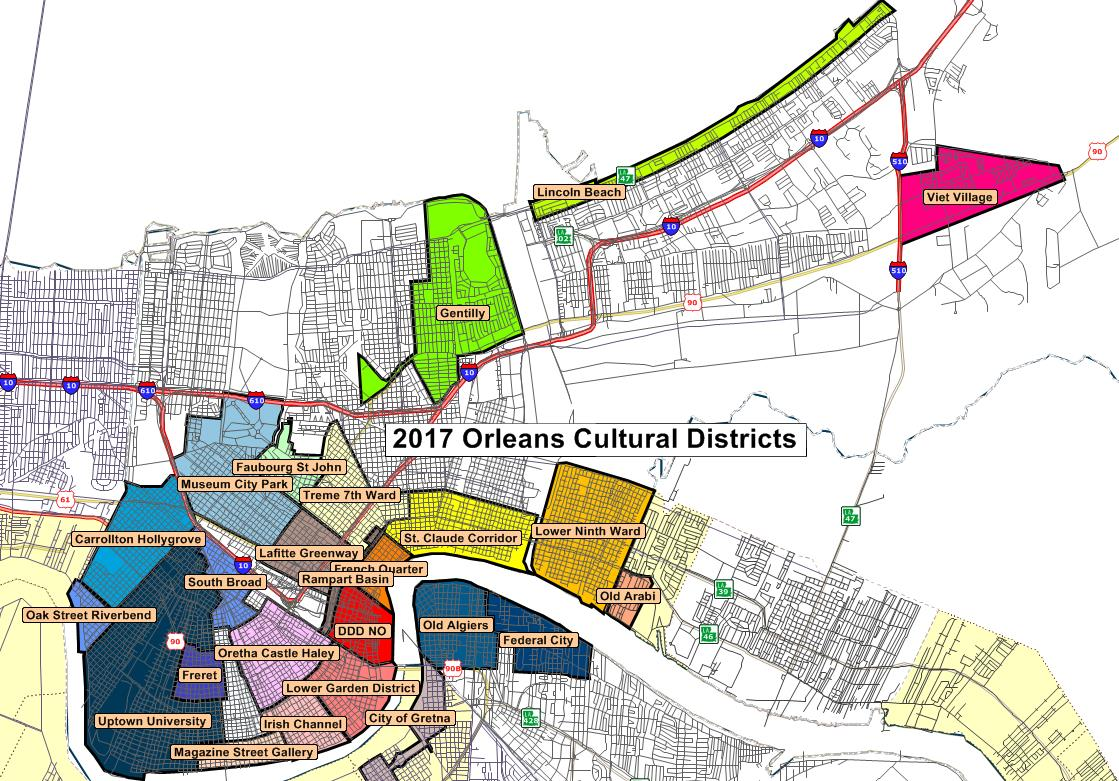 District Maps | Louisiana Cultural Districts