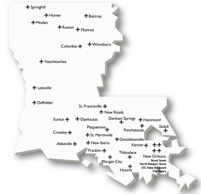 New Iberia Louisiana Map.Louisiana Network Main Street Division Of Historic Preservation