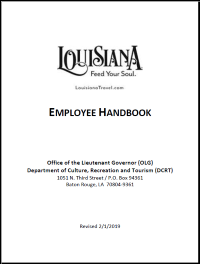 Employee Handbook Human Resources Louisiana Dcrt