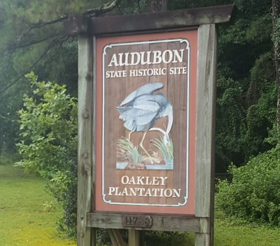 Audubon State Historic Site sign
