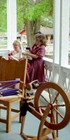 Spinning and weaving demonstrations