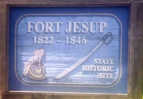 Fort Jesup State Historic Site sign