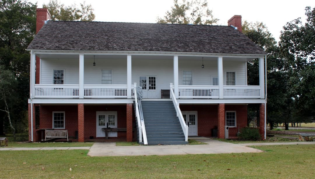 The reconstructed Officers' Quarters at Fort Jesup SHS