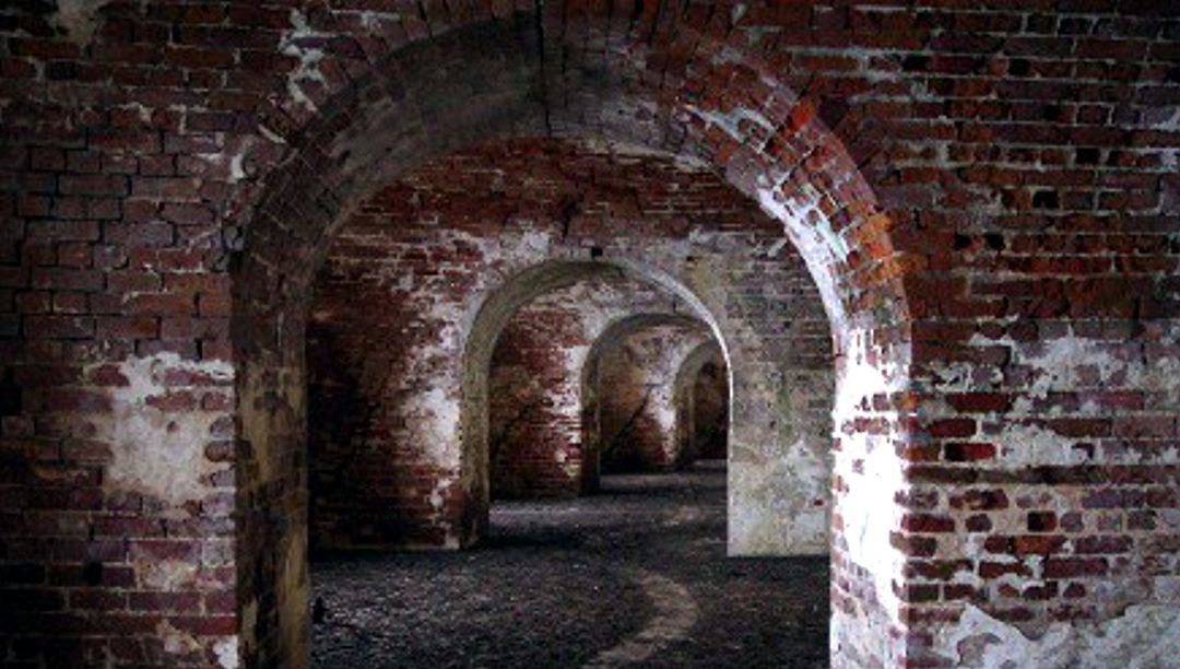 Tunnel leading through the fort casements