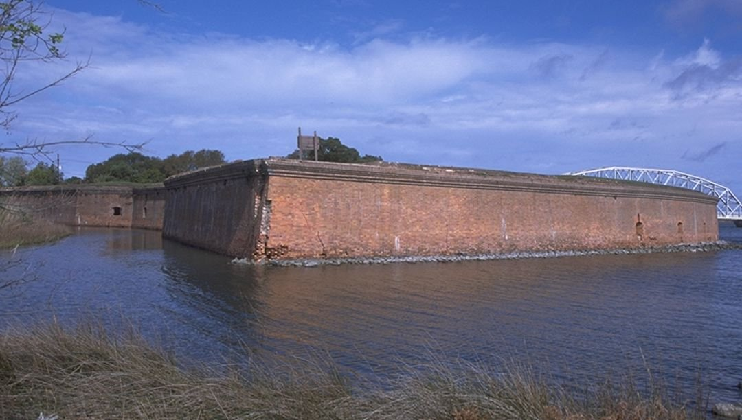 View of the fort from the water, circa 1998