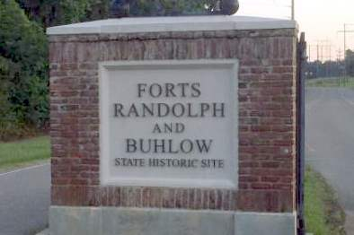 Forts Randolph & Buhlow State Historic Site sign