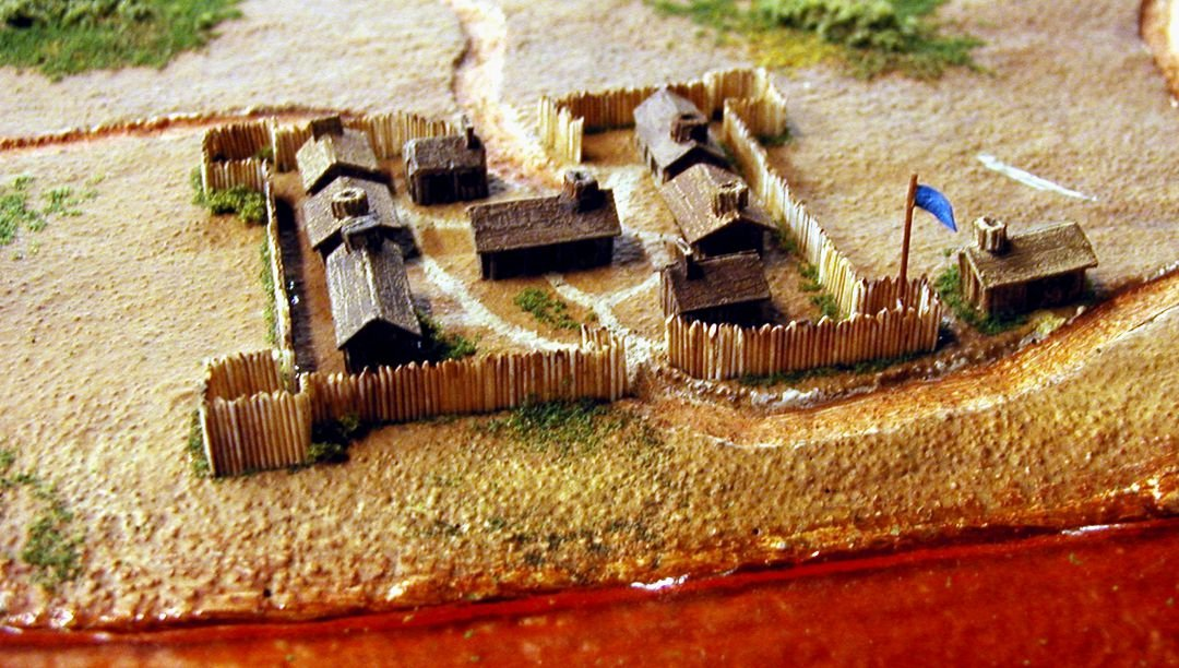 Model of the fort, on display in the visitor center