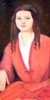 Portrait of Sarah Knox Taylor, currently hanging in the Vicksburg, MS courthouse