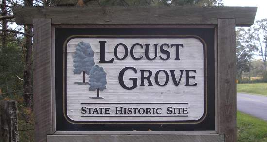 Locust Grove Syaye Historic Site sign