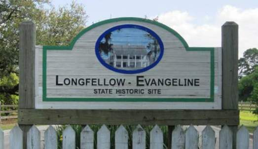 Longfellow - Evangeline State Historic Site sign