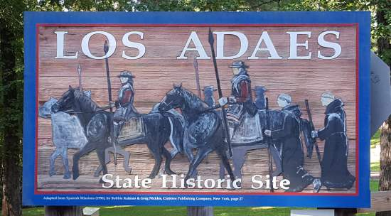 Los Adaes State Historic Site sign