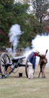 Cannon fire demonstrations offered at the site