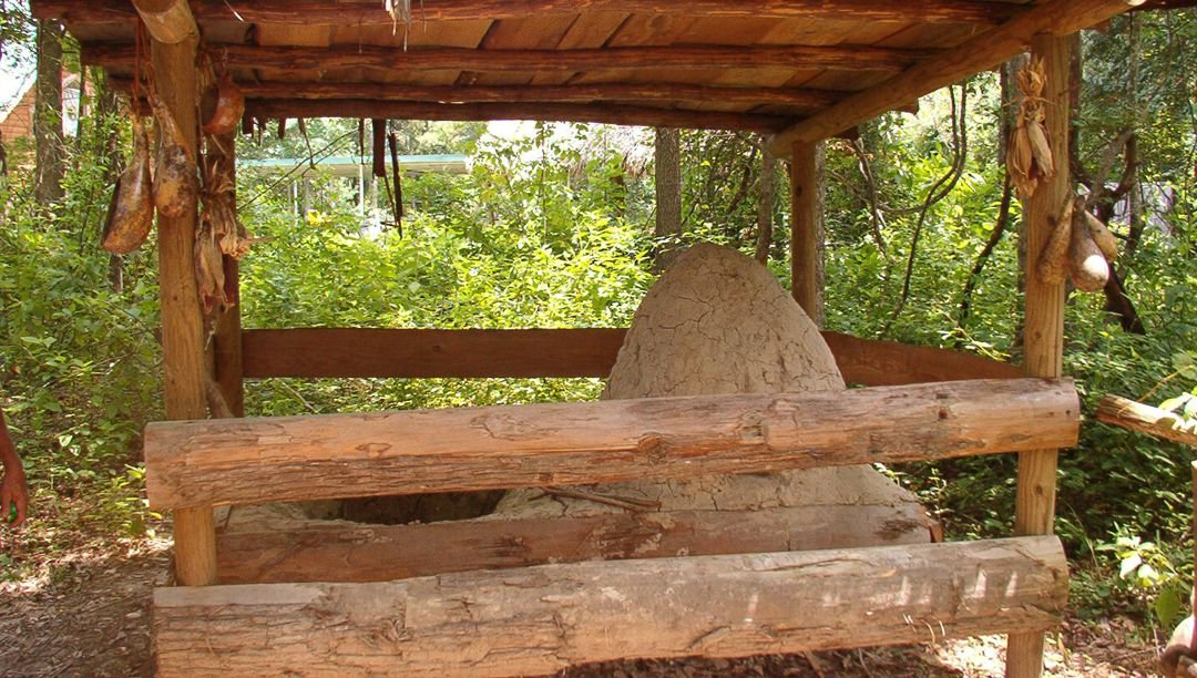 Native American clay oven