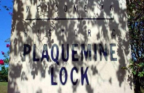 Plaquemine Lock State Historic Site sign
