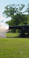 Cannon firing for semi-annual school day