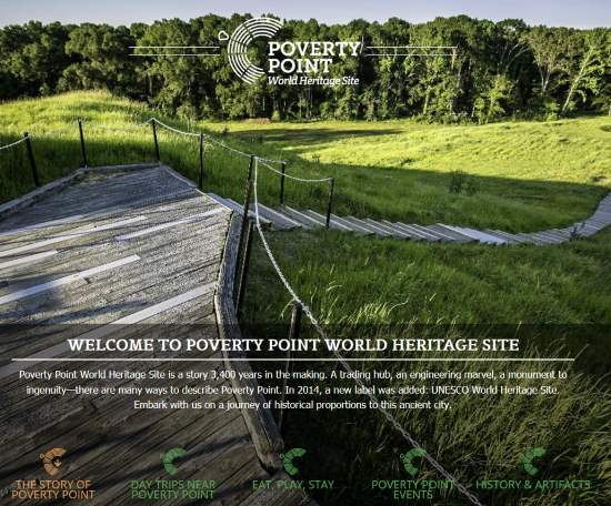 Poverty Point's website, poverty point dot us