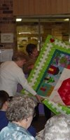 Every February, quilters visit for demonstrations and shows