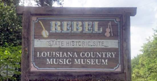 Rebel State Historic Site sign