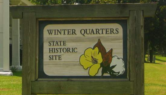 Winter Quarters State Historic Site sign