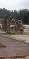 Water playground in the day-use area
