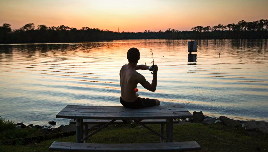 Enjoy a peaceful evening of fishing