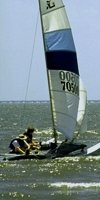 Windsurfing on Lake Pontchartrain