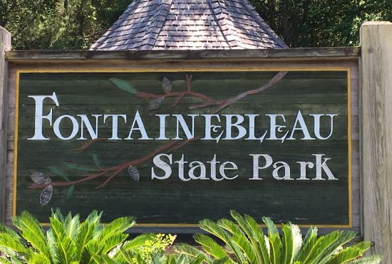 Fontainebleau State Park sign