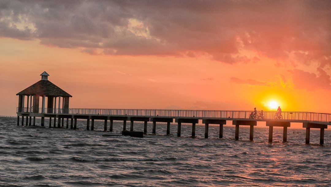 Sunset over Lake Pontchartrain