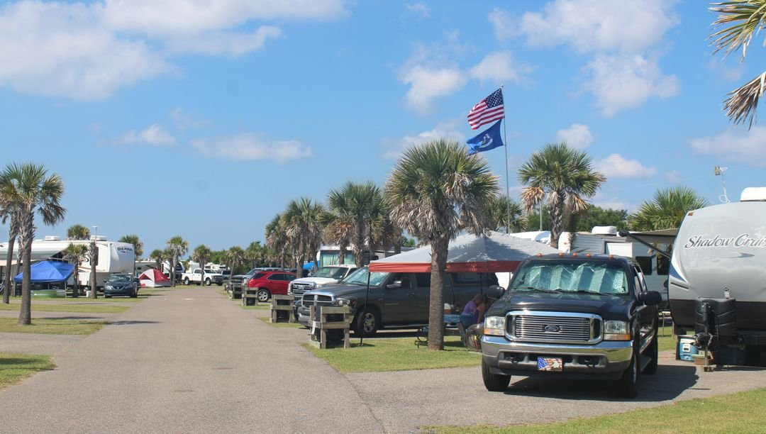 Campground near the beach