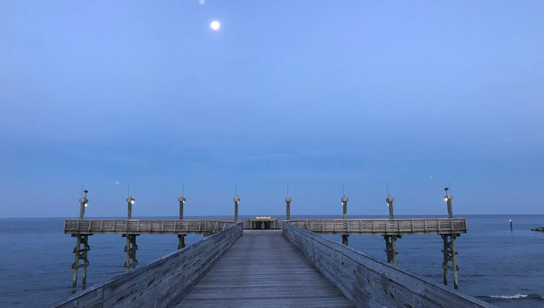 Fishing pier on the Gulf of Mexico