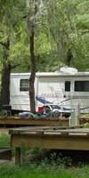 RV campsites with decks