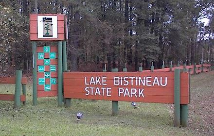 Lake Bistineau State Park sign