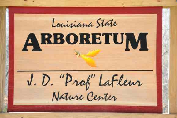 Louisiana State Arboretum Sign