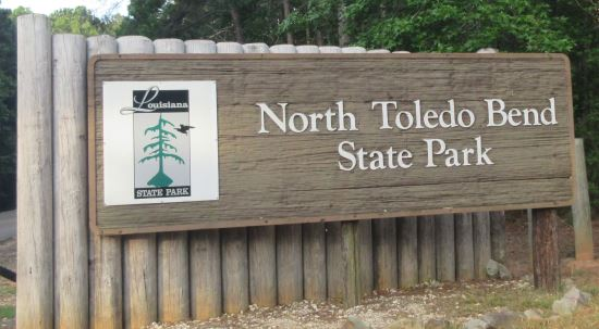 North Toledo Bend State Park sign