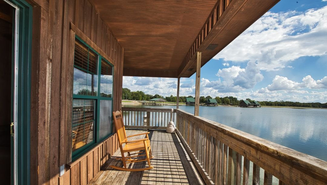 Enjoy the view from the waterfront porch