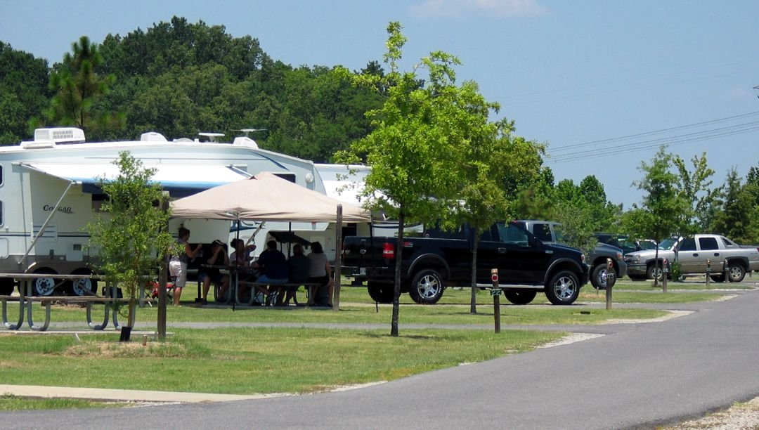 Campground at Poverty Point Reservoir